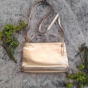 Banana Republic 2 in 1 Gold Leather Purse